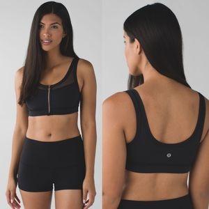 Lululemon Drop It Like It's Hot Black Sports Bra